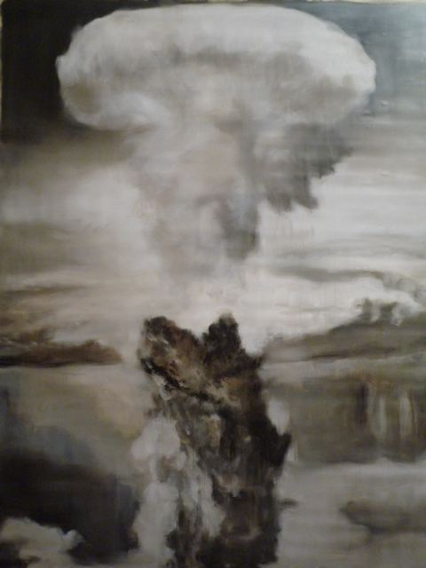 Untitled ( Atomic bomb ), 2012  Oil on canvas 136 x 200 cm
